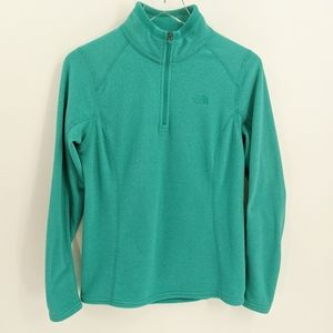 The North Face Turquoise Quarter Zip LIght Fleece
